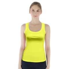 Neon Color   Brilliant Yellow Racer Back Sports Top