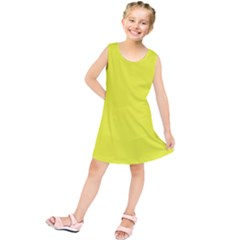 Neon Color   Brilliant Yellow Kids  Tunic Dress