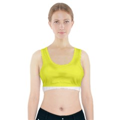 Neon Color   Brilliant Yellow Sports Bra With Pocket