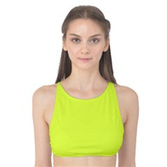 Neon Color - Light Brilliant Apple Green Tank Bikini Top