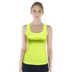 Neon Color   Light Brilliant Apple Green Racer Back Sports Top