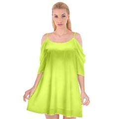 Neon Color   Light Brilliant Apple Green Cutout Spaghetti Strap Chiffon Dress