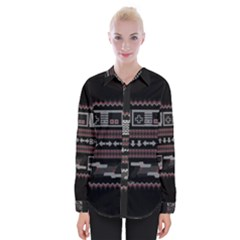 Old School Ugly Holiday Christmas Black Background Shirts