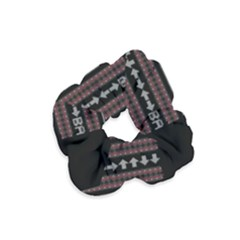 Old School Ugly Holiday Christmas Black Background Velvet Scrunchie