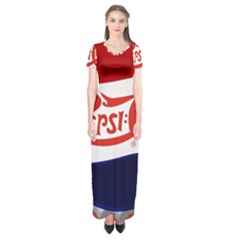 Pepsi Cola Short Sleeve Maxi Dress