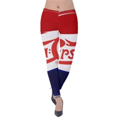 Pepsi Cola Velvet Leggings