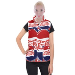 Pepsi Cola Women s Button Up Puffer Vest