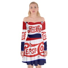 Pepsi Cola Off Shoulder Skater Dress