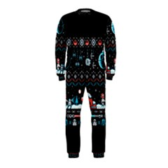 That Snow Moon Star Wars  Ugly Holiday Christmas Black Background OnePiece Jumpsuit (Kids)