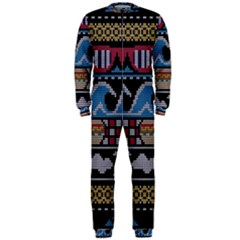 Ugly Summer Ugly Holiday Christmas Black Background OnePiece Jumpsuit (Men)