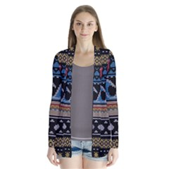 Ugly Summer Ugly Holiday Christmas Black Background Cardigans