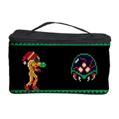 We Wish You A Metroid Christmas Ugly Holiday Christmas Black Background Cosmetic Storage Case