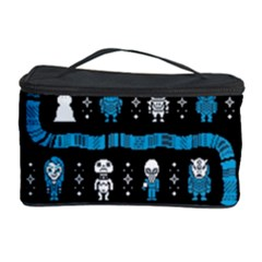 Who Is Outside Ugly Holiday Christmas Black Background Cosmetic Storage Case