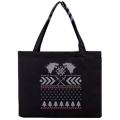 Winter Is Coming Game Of Thrones Ugly Christmas Black Background Mini Tote Bag