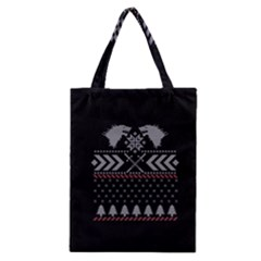 Winter Is Coming Game Of Thrones Ugly Christmas Black Background Classic Tote Bag