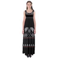 Winter Is Coming Game Of Thrones Ugly Christmas Black Background Empire Waist Maxi Dress