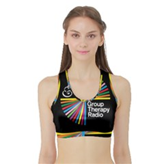 Above & Beyond  Group Therapy Radio Sports Bra with Border