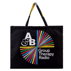 Above & Beyond  Group Therapy Radio Zipper Large Tote Bag