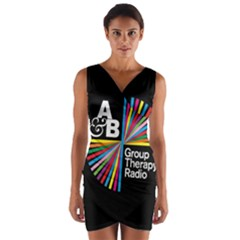Above & Beyond  Group Therapy Radio Wrap Front Bodycon Dress