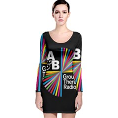 Above & Beyond  Group Therapy Radio Long Sleeve Velvet Bodycon Dress