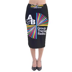 Above & Beyond  Group Therapy Radio Velvet Midi Pencil Skirt