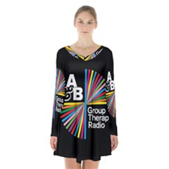 Above & Beyond  Group Therapy Radio Long Sleeve Velvet V-neck Dress