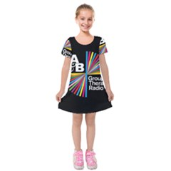 Above & Beyond  Group Therapy Radio Kids  Short Sleeve Velvet Dress