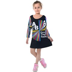 Above & Beyond  Group Therapy Radio Kids  Long Sleeve Velvet Dress