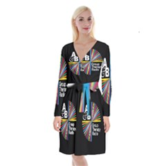 Above & Beyond  Group Therapy Radio Long Sleeve Velvet Front Wrap Dress