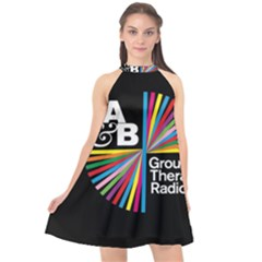 Above & Beyond  Group Therapy Radio Halter Neckline Chiffon Dress