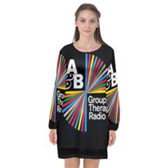 Above & Beyond  Group Therapy Radio Long Sleeve Chiffon Shift Dress
