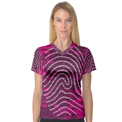 Above & Beyond Sticky Fingers Women s V-Neck Sport Mesh Tee