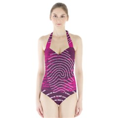Above & Beyond Sticky Fingers Halter Swimsuit