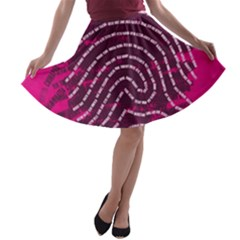 Above & Beyond Sticky Fingers A-line Skater Skirt