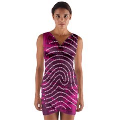 Above & Beyond Sticky Fingers Wrap Front Bodycon Dress