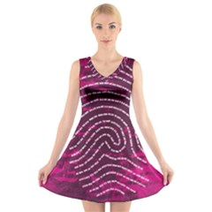 Above & Beyond Sticky Fingers V-Neck Sleeveless Skater Dress