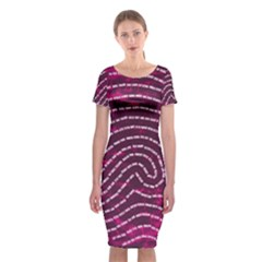 Above & Beyond Sticky Fingers Classic Short Sleeve Midi Dress