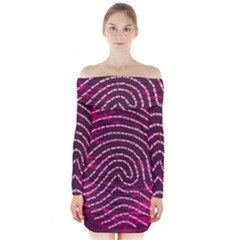 Above & Beyond Sticky Fingers Long Sleeve Off Shoulder Dress