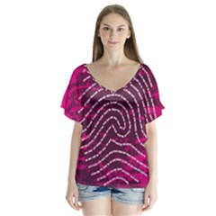 Above & Beyond Sticky Fingers Flutter Sleeve Top