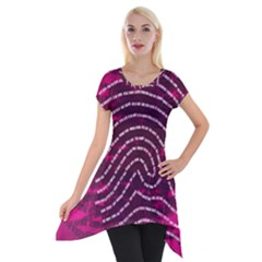 Above & Beyond Sticky Fingers Short Sleeve Side Drop Tunic