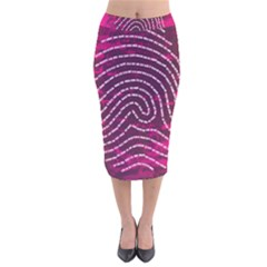 Above & Beyond Sticky Fingers Velvet Midi Pencil Skirt