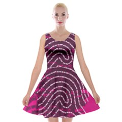 Above & Beyond Sticky Fingers Velvet Skater Dress