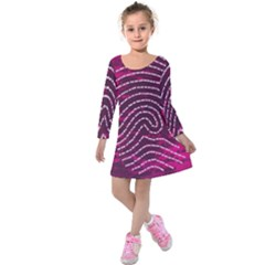 Above & Beyond Sticky Fingers Kids  Long Sleeve Velvet Dress