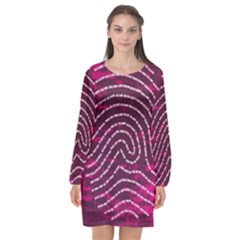 Above & Beyond Sticky Fingers Long Sleeve Chiffon Shift Dress
