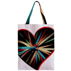 Above & Beyond Zipper Classic Tote Bag