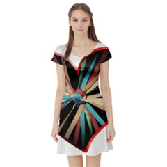 Above & Beyond Short Sleeve Skater Dress