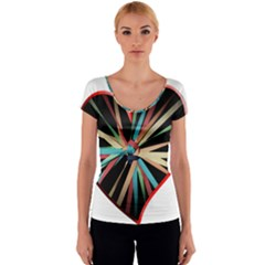 Above & Beyond Women s V-Neck Cap Sleeve Top