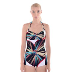 Above & Beyond Boyleg Halter Swimsuit