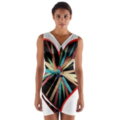 Above & Beyond Wrap Front Bodycon Dress