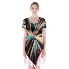 Above & Beyond Short Sleeve V-neck Flare Dress